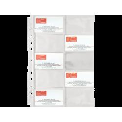 ΖΕΛΑΤΙΝΗ BLACK RED Α4 PP  ΜΕ 10 ΘΗΚΕΣ ΓΙΑ BUSINESS CARDS